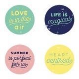 Pastel del botón del aire del amor Foto de archivo