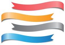 Pastel del color de la cinta fijado en el vector blanco Fotografía de archivo libre de regalías