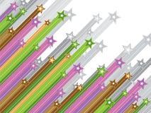 Pastel diagonal shooting stars stock image