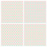 Pastel Diamond Shape Seamless Patterns Royalty Free Stock Image