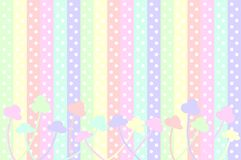 Pastel Dots and Flowers Stock Photos
