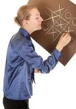 Pastel drawing on brown paper Royalty Free Stock Images