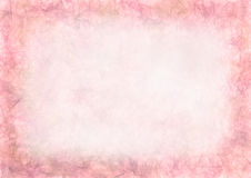 Pastel drawn pink textured background.Crumpled paper. Blank for letter or greeting card. A4 size format. Series of Watercolor, Oil, Pastel, Chalk, Inc Stock Illustration
