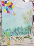 Pastel dreams stock image
