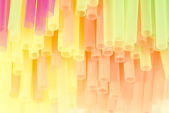 Pastel drinking straw Stock Images