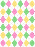Pastel Easter Argyle Stock Photo