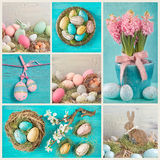 Pastel easter collage royalty free stock photo