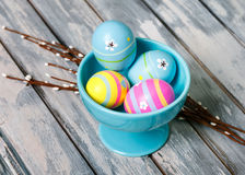 Pastel easter eggs Royalty Free Stock Image