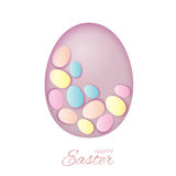 Pastel Easter eggs for Easter holidays design Royalty Free Stock Photos