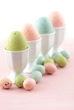 Pastel Easter eggs Stock Images