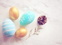 Pastel easter eggs Stock Photos