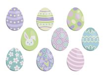 Pastel Easter Eggs Set Vector Illustration royalty free illustration