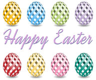Pastel easter eggs with shadow Stock Photos
