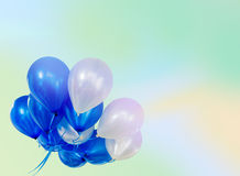 Pastel effected on balloons. Floating with copy space Stock Photography