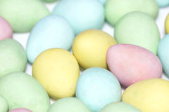 Pastel egg candy. Colorful pastel color easter egg candy background Royalty Free Stock Photos