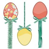 Pastel eggs Stock Images