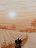 Pastel farm Royalty Free Stock Image
