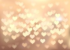 Pastel festive lights in heart shape, vector Royalty Free Stock Images