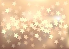 Pastel festive lights in star shape, vector Royalty Free Stock Photo
