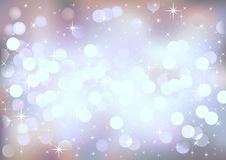 Pastel festive lights, vector background. Stock Photography