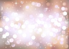 Pastel festive lights, vector background. Royalty Free Stock Photos