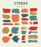 Pastel Figured brush strokes brush and ink Royalty Free Stock Images