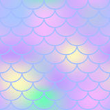 Pastel fish scale  seamless pattern. Magic Mermaid texture or background square swatch. Marshmallow colors gradient mesh. Mermaid pattern or decor element Stock Photography