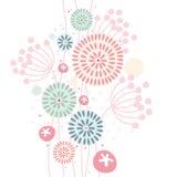 Pastel floral background royalty free illustration