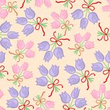 Pastel floral bouquet pattern seamless Stock Photography