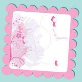 Pastel floral card. Illustration background Stock Photo