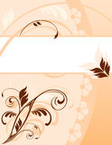 Pastel floral card Stock Image