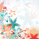 Pastel floral card spring floral background Royalty Free Stock Image