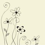 Pastel floral card spring floral background Stock Images