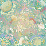 Pastel floral design on beige background Stock Photography