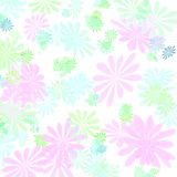 Pastel  floral pattern gift paper Royalty Free Stock Image