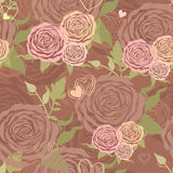 Pastel floral seamless pattern with flower roses Royalty Free Stock Photo