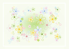 Pastel flower background Royalty Free Stock Image