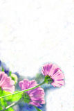 Pastel Flower Border / Paper  Royalty Free Stock Image