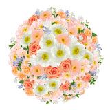 Pastel flower bouquet collage Royalty Free Stock Image