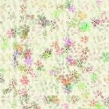 Pastel flower design on textured cream background Royalty Free Stock Photography