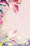Pastel Flower Frame or Border stock photo