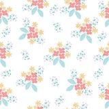Pastel flower seamless pattern background vector illustration
