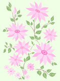 Pastel flowers. Spring pastel flowers. Design illustration royalty free illustration
