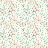 Pastel flowers Stock Image