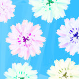 Pastel flowers Stock Images