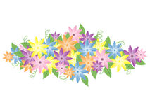 Pastel Flowers Stock Photography