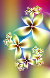Pastel flowers fractal Royalty Free Stock Images