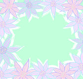 Pastel flowers frame Royalty Free Stock Images