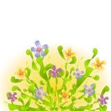 Pastel Flowers Garden Clip Art Stock Image