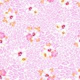 Pastel flowers over animal background vector illustration